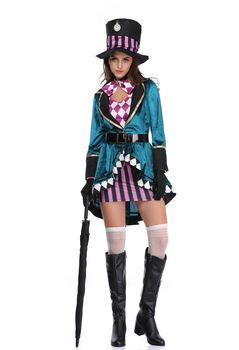 Sword Art Online Alice Synthesis Thirty Halloween adult girl magician cosplay costumes Nightclub animal trainer stage costume tanie i dobre opinie FMZXG Film i TELEWIZJA WOMEN Zestawy Poliester Kostiumy