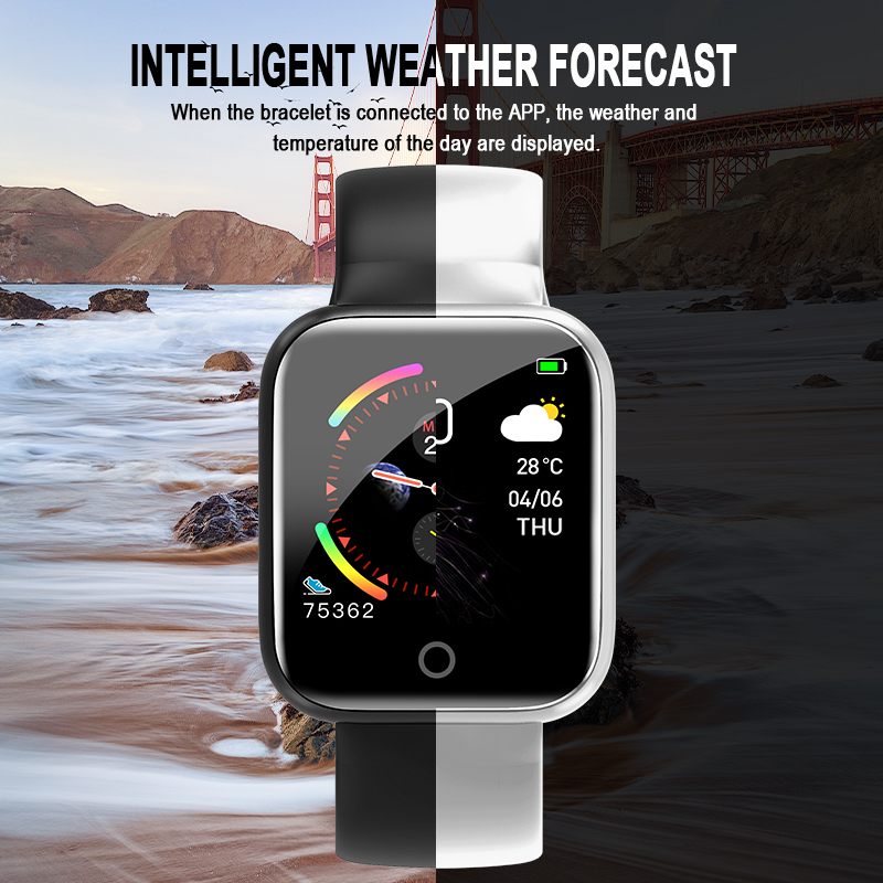 I5 for Apple Watch Pedometer Music Control Multiple Dials Heart Rate Fitness Smartwatch Men Women Android IOS VS B57 Smart Watch 4