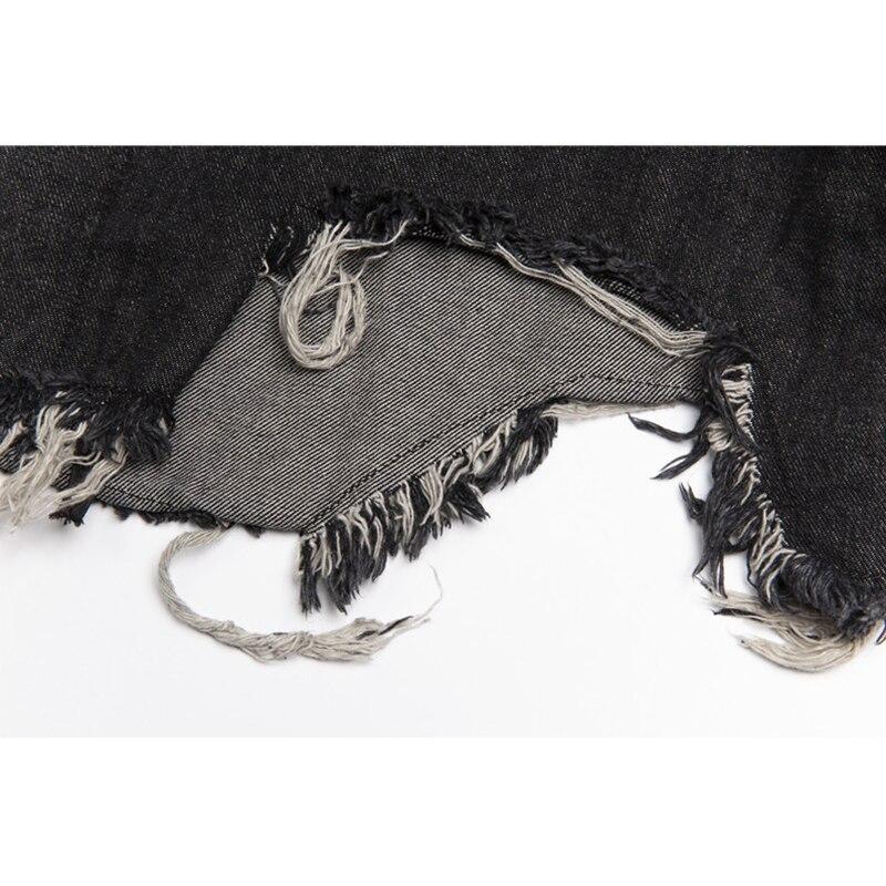 Mode gothique longue Trench manteau hommes Hip Hop à capuche coupe vent vestes noir Streetwear Swag pardessus mâle décontracté Streetwear - 5