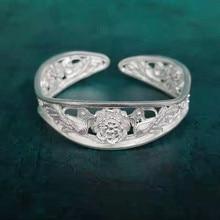 цена Bastiee Birds Flower 999 Sterling Silver Vintage Bangles For Women Luxury Jewelry Handmade Bracelet Bangle Hmong Costume Chinese онлайн в 2017 году