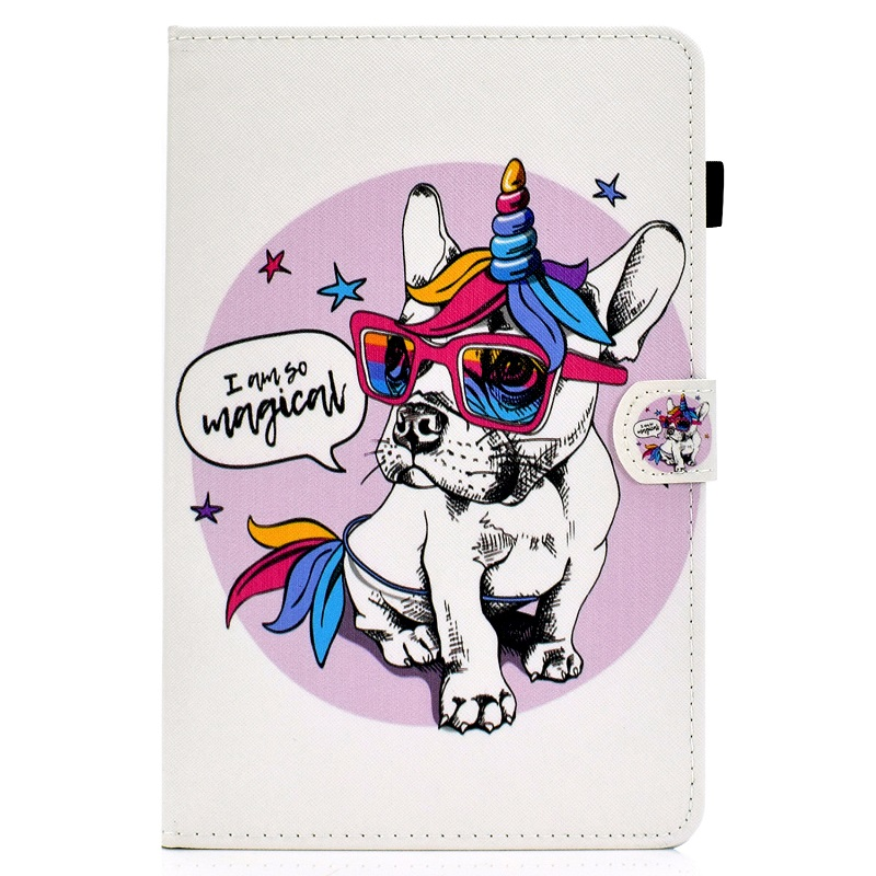 1 Red For New iPad 10 2 inch model A2197 Cover Painted Puppy Cat Unicorn Leather Book Stand