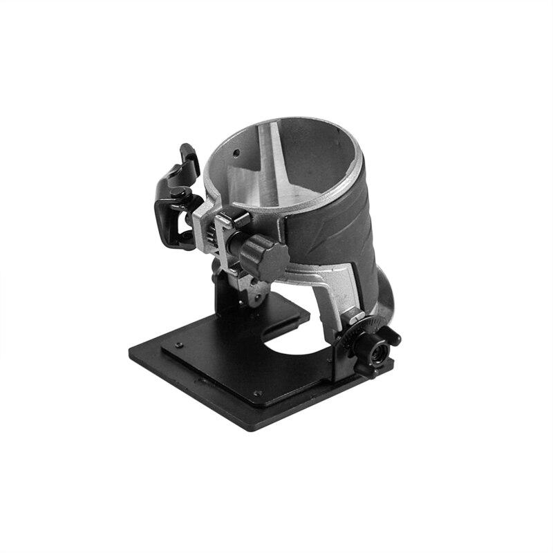 Adjustable Balance Trimmer Base Shield Wood Work Shank Trim Router Edge Molding Metal + Plastic 8.9x8.9cm Trimmer Tool Parks