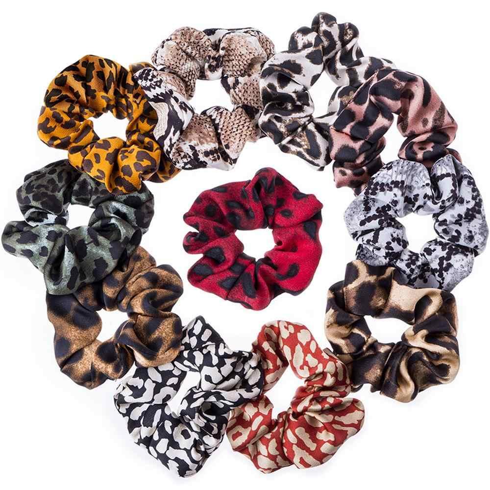 Vrouwen Scrunchies Snake/Luipaard Elastische Haarbanden Dames Stretch Paardenstaart Houder Print Hoofdband Effen Hoofddeksels Haar Accessoires