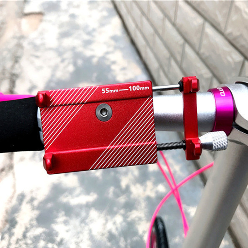 Mobile Phone Holder Folding <font><b>Bike</b></font> Aluminum Alloy Holder For Brompton Bicycle Shockproof Fixed <font><b>Navigation</b></font> Bracket 22.2/25.4/31.8mm image
