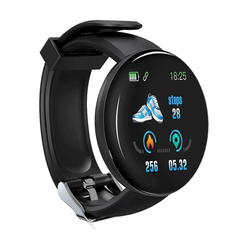 Bakeey D18 Smartwatch Armband Herz Rate Blutdruck O2 Monitor Fitness Tracker Informationen Push Smart Uhr Männer Frauen