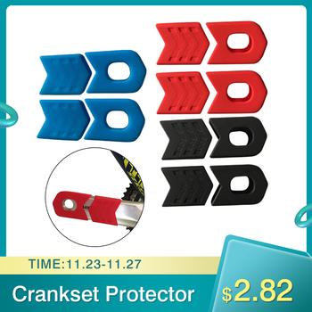 Crank Protective Sleeve Bicycle Accessories Crankset Protector MTB Mountain Bike Gear Pedal Crank Rubber Protective Cover 1 set mtb road bike crank arm protector cover crankset cap bicycle crank boots dust proof silicone protective cover