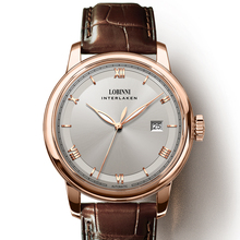 Luxury LOBINNI Men Watch  Japan MIYOTA Automatic Mechanical MOVT Business Mens Wirstwatches Sapphire Leather relogio masculino