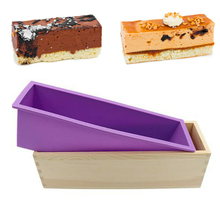 Mold Soap-Mould Craft Wooden-Box Kitchen-Tools Cake-Loaf-Mold Baking Handmade Rectangle