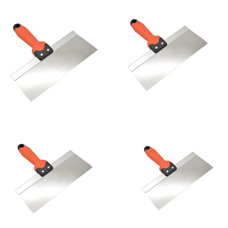 6/8/10/12 Inch Stainless Steel Putty Knife Taping Paint Scraper Broad Blade With Plastic Handle For Wall Floor Tile