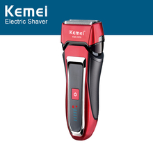 Kemei Electric Rechargeable Beard Shaver Razor For Men 3 Blade Head With LCD Screen Washable Hair Trimmer Shaving Machine цена и фото