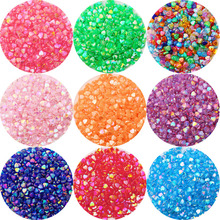 100Pcs/lot 8x9mm AB Color Beaded Love Heart Acrylic Loose Spacer Beads ForDIY Handmade Bracelet Earrings Jewelry Acceaaories