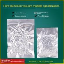 Aluminum Foil Vacuum Bag 22 Silk Thickened Pure Aluminum Vacuum Sealer Bag Silver Food Vacuum Bag Silver Color Tin Foil Food Bag