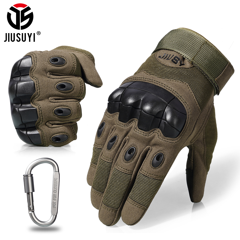 Screen Touch Tactical Gloves Combat Anti-Skid Military Army Shooting Paintball Airsoft Carbon Hard Knuckle Full Finger Glove