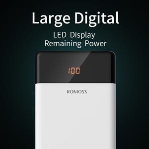 Image 4 - 20000Mah Romoss LT20 Power Bank Dual Usb Powerbank Externe Batterij Met Led Display Snel Draagbare Oplader Voor Xiaomi Voor iphone