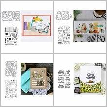 4*6 дюймов штампы и комбо диван стул цветы осенние листья буклет