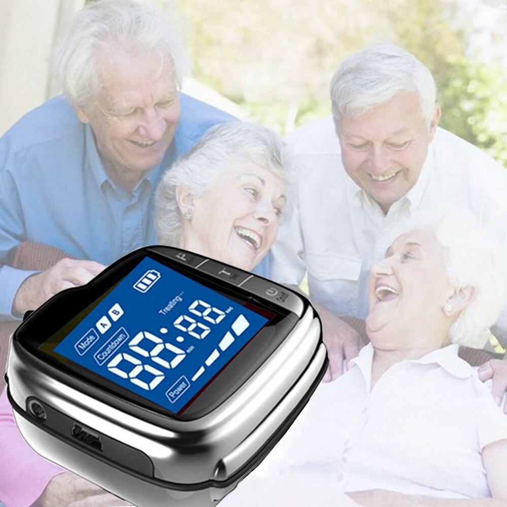 Laser Therapy Watch Chronic Rhinitis Treatment Diabetes Cold LLLT Laser Equipment Hypertension Diabetes