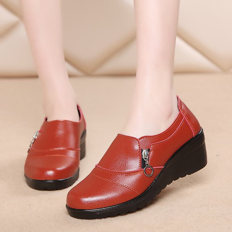 Women's Shoes Wedges New Warm Winter Casual Autumn Soft Comfortable Middle-Aged Cotton