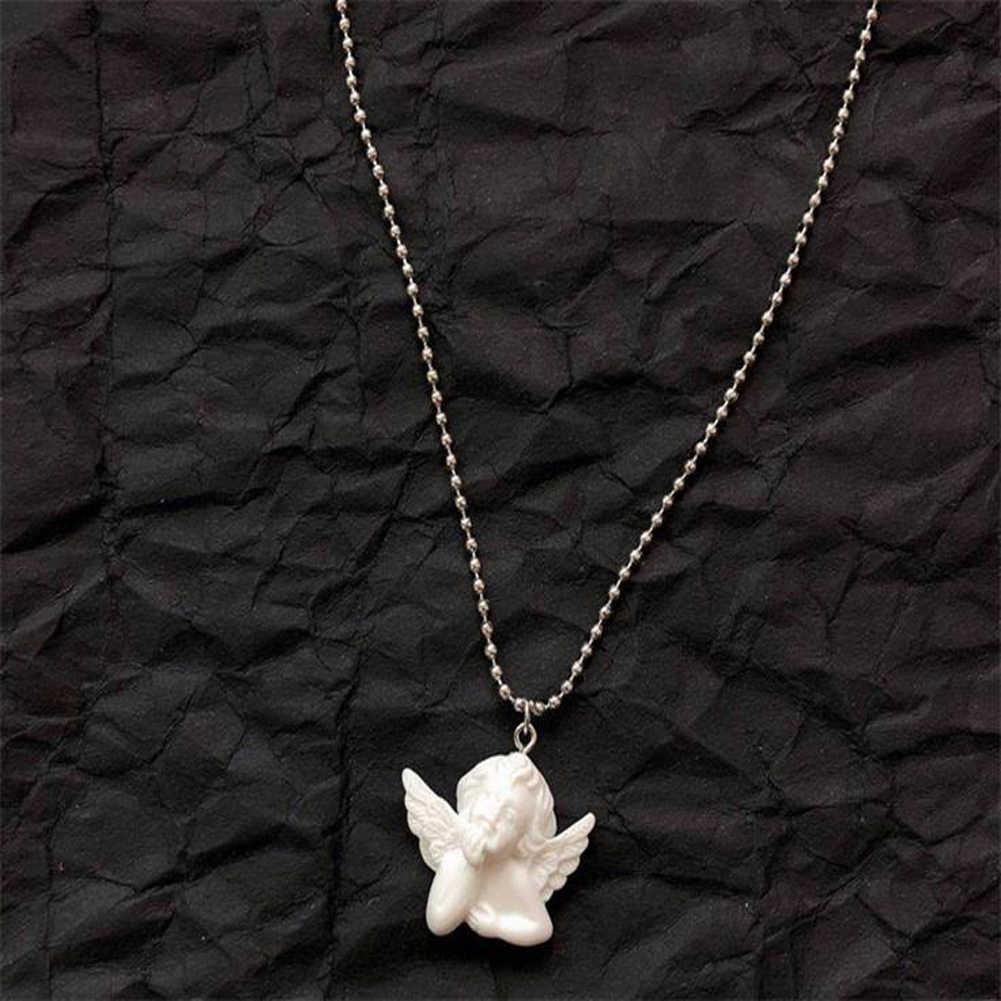 חמוד קופידון מלאך תליון שרף שרשרת, ארוך שרשרת תינוק בצורת תכשיטי מתוקה לנשים גבר ידידות ילדה מתנות