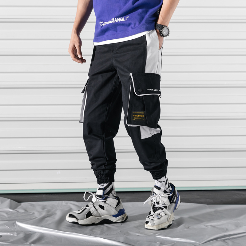 Plus-sized Pure Cotton Bib Overall Men Popular Brand Loose Casual Pants Street Hip Hop Korean-style Skinny Trend Trousers