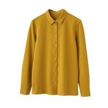 Рубашка женская с длинным рукавом 95% хлопок на осень/зиму/весну