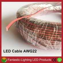 DHL FedEx красного и черного цветов провода AWG22 100 м/лот 2-х контактный кабель-удлинитель провода для светодиодный полосы светильник одного цвета
