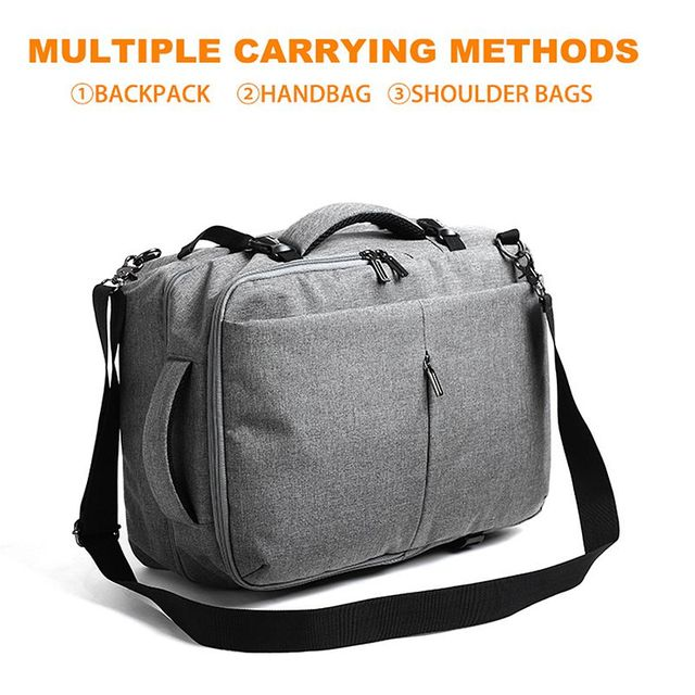 MOYYI Business Travel Double Compartment Backpacks Multi-Layer 6