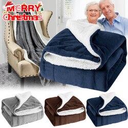 Koc ekstra ciepły gruby puszysty miękki na zimę sypialnia świąteczny prezent MJJ88