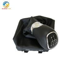 5ED711113 рычаг переключения передач Ручка с крышкой из искусственной кожи и пластиковой или кожаной ручкой для V W Octavia- 5ED 711 113