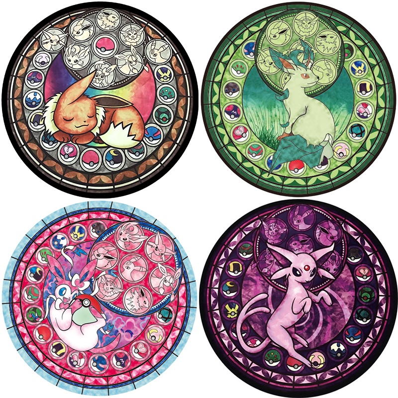 cartoon pokemon pattern round carpet prayer rug for living room 