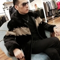 Real Fur Coat Plus Size Natural Mink Fur Coat Winter Jacket Men Real Shearling Outwear for Mens Clothing Veste Homme M001 YY740