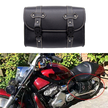 Motorcycle PU Leather Sissy Bar Side Pouch Bags Saddle Bags Leather Storage Tool  For Sportste 1200 For Honda Motor Parts motorcycle saddlebag pu leather left saddle bag sissy bar bags storage tool pouch universal for honda shadow yamaha kawasaki