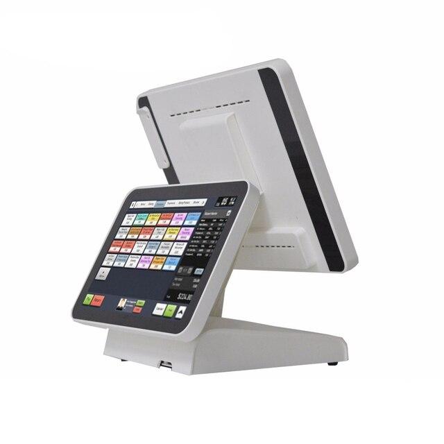 Système de Point de vente à double écran, 15 pouces, pour les détaillants, Terminal de Point de vente Commercial avec écran pur, machine de Point de vente 1