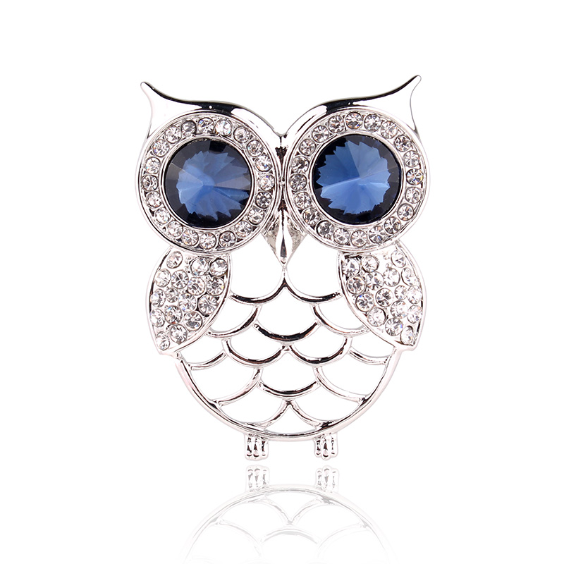 TODOX Blue Eyes Owl Cartoon brooches Color Crystal white Rhinestone Pins Apparel Clothing Dress buckle Jewelry accessory gifts|Brooches| - AliExpress