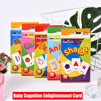 Children's recognition alphabet letter clock shape animal color recognition card educational Montessori  toy vowel tajweed rules recognition using nnw