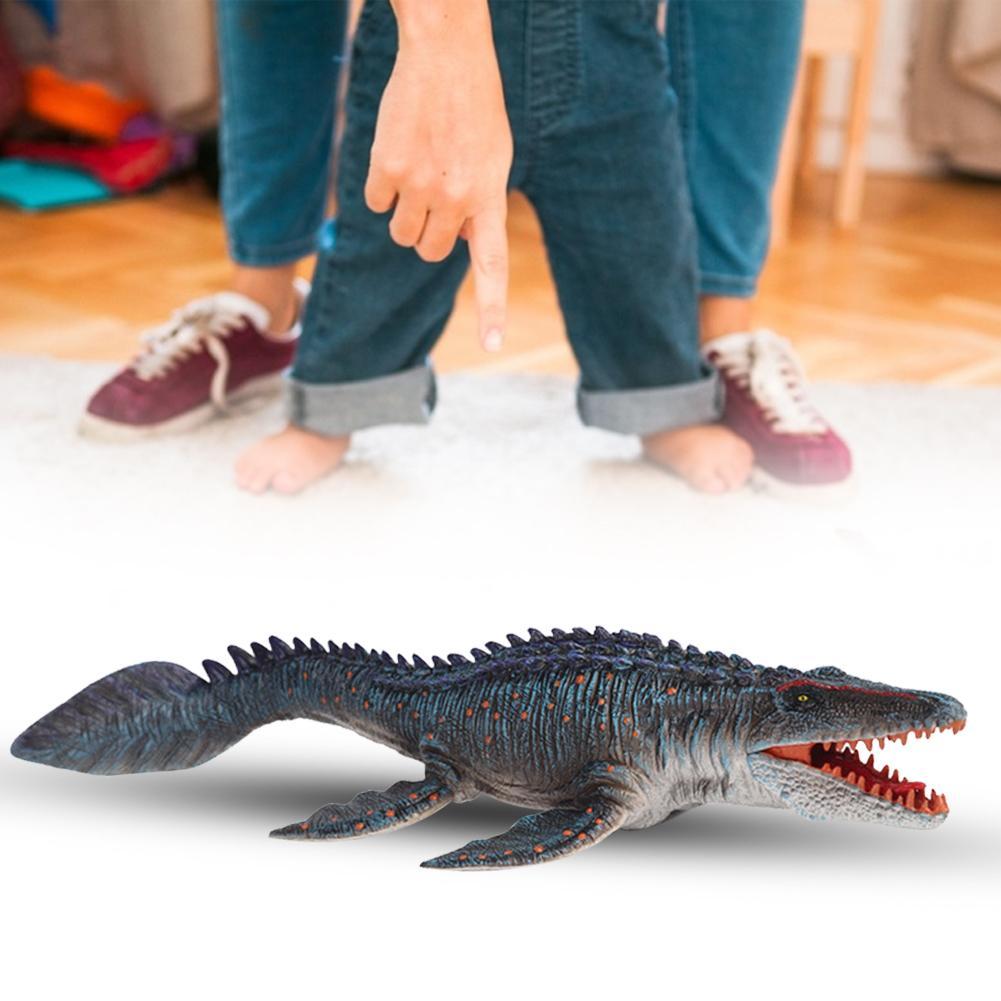 1Pc 34CM Dinosaur Figurine Realistic Mosasaurus Dinosaur Toys Plastic Wild Animals Model Educational Figurine Gift For Kids Toy