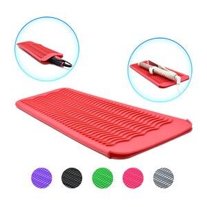 Image 2 - Silikonowa mata podróżna odporna na ciepło do curlingu prostownica do włosów wielofunkcyjna antypoślizgowa prostownica narzędzie do układania włosów