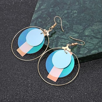 Brincos Para As Mulheres Brinco Fashion Statement Earrings 2019 Temperament Ladies Colorful Sequin Ring Modern Jewelry Gift  3