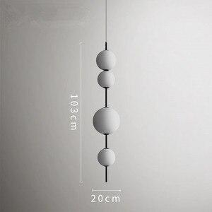 Image 3 - מודרני LED תליון מנורות תליית מנורות מסעדה דלעת תליון אורות בית קפה בר חדר שינה מטבח חדר אוכל זכוכית דקו גופי