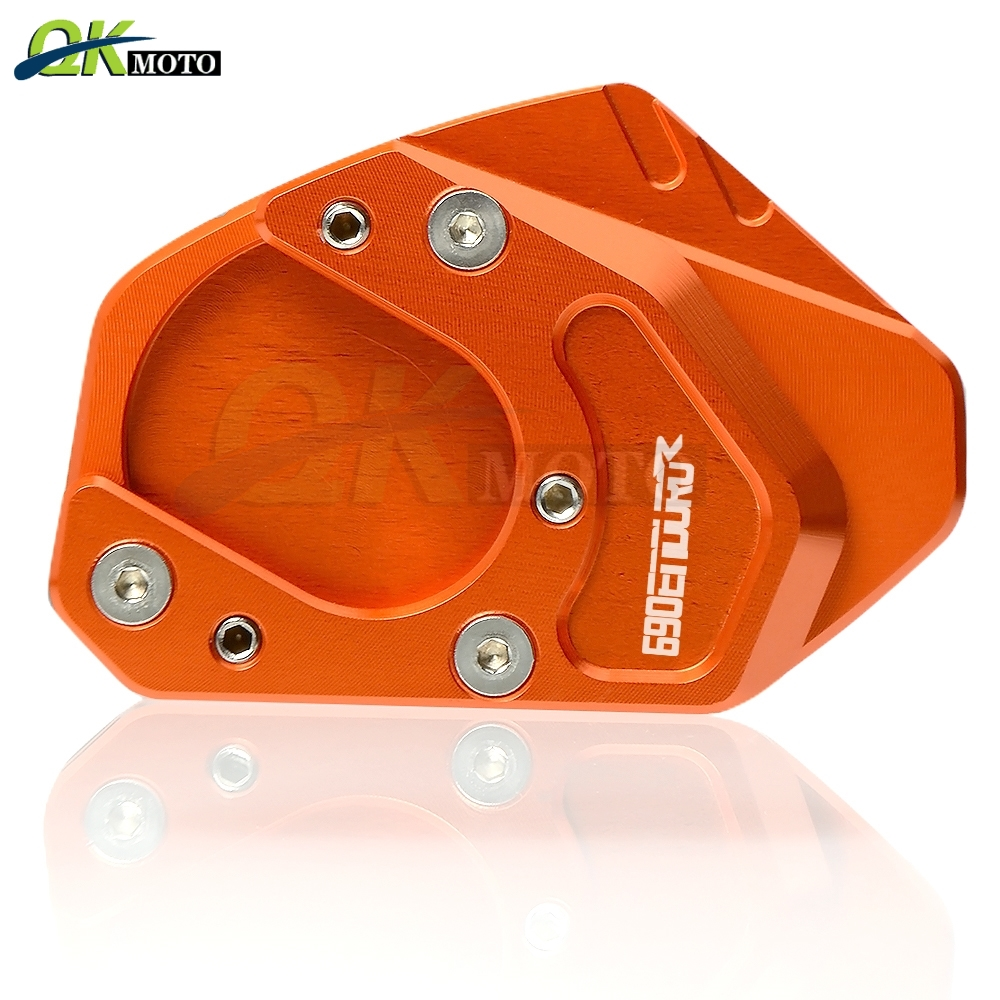 Motorcycle CNC Aluminum Accessories Side Stand Enlarge Pad Kick Stand Extension Plate Pad For KTM 690 ENDURO R 2009-2015
