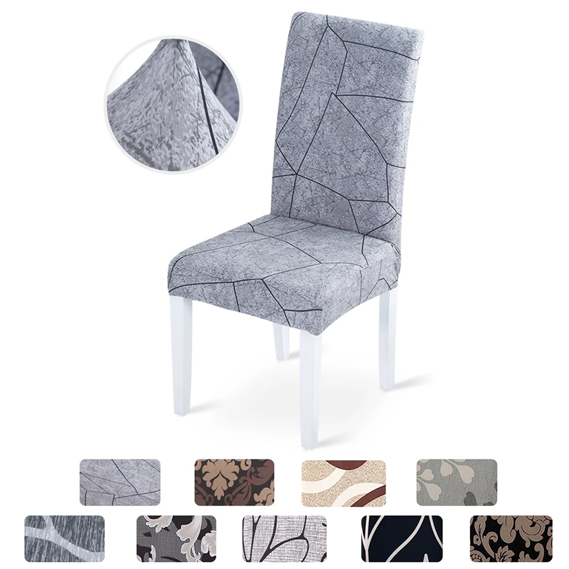 Elastic Fabric Printed Chair Cover 1