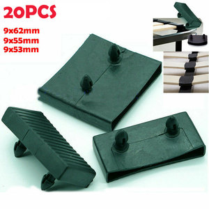 20PCS Plastic Square Replacement Sofa Bed Slat Centre End Caps Holders Black Inner Size 9mm x 53mm 55mm 62mm