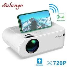 Salange P62 미니 프로젝터 야외 영화, 지원 1080P 풀 HD Projetor 홈 시어터 2800 루멘 Proyector 비디오 비머