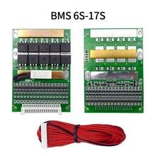 Módulo equilibrador de batería de litio Lifepo4, placa de protección de equilibrio, 6S a 17S BMS 50A 3,2 V 3,7 V 18650