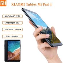 Планшет XIAOMI MI Pad 4, 8 дюймов, WiFi, Android, Snapdragon 660 AIE, 4 Гб ОЗУ, 64 Гб ПЗУ, камера 13 МП, Bluetooth 5,0