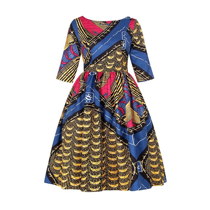 Женские вечерние платья в африканском стиле с принтом Дашики, элегантное винтажное платье в африканском стиле, одежда в американском стиле|Африканская одежда|   | АлиЭкспресс