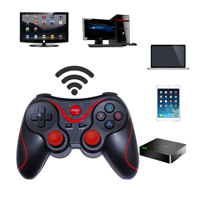 T3 X3 Wireless Bluetooth Gamepad Wireless Joystick Game Controller For IOS Android Mobile Phone Game Handle For PC TV Box Holder