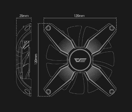 darkflash Aigo Computer PC Case Fan RGB Adjust LED Fan Speed 120mm Quiet Remote AURA SYNC Computer Cooler Cooling RGB Case Fans