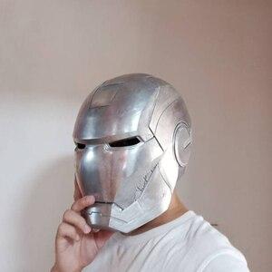 Image 2 - MKII 1: 1 Алюминиевый шлем первичного цвета, неполированный и самодельная роспись, Все металлы имеют светлый свет