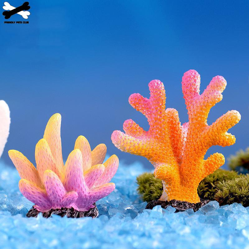 Aquarium Resin Coral Decoration Colorful Fish Artificial for fish Tank Ornaments 23