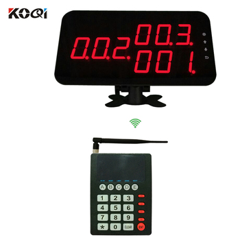 Fast Food Queue Number Display Trasmitter Keypad K-999 Wireless Queue System